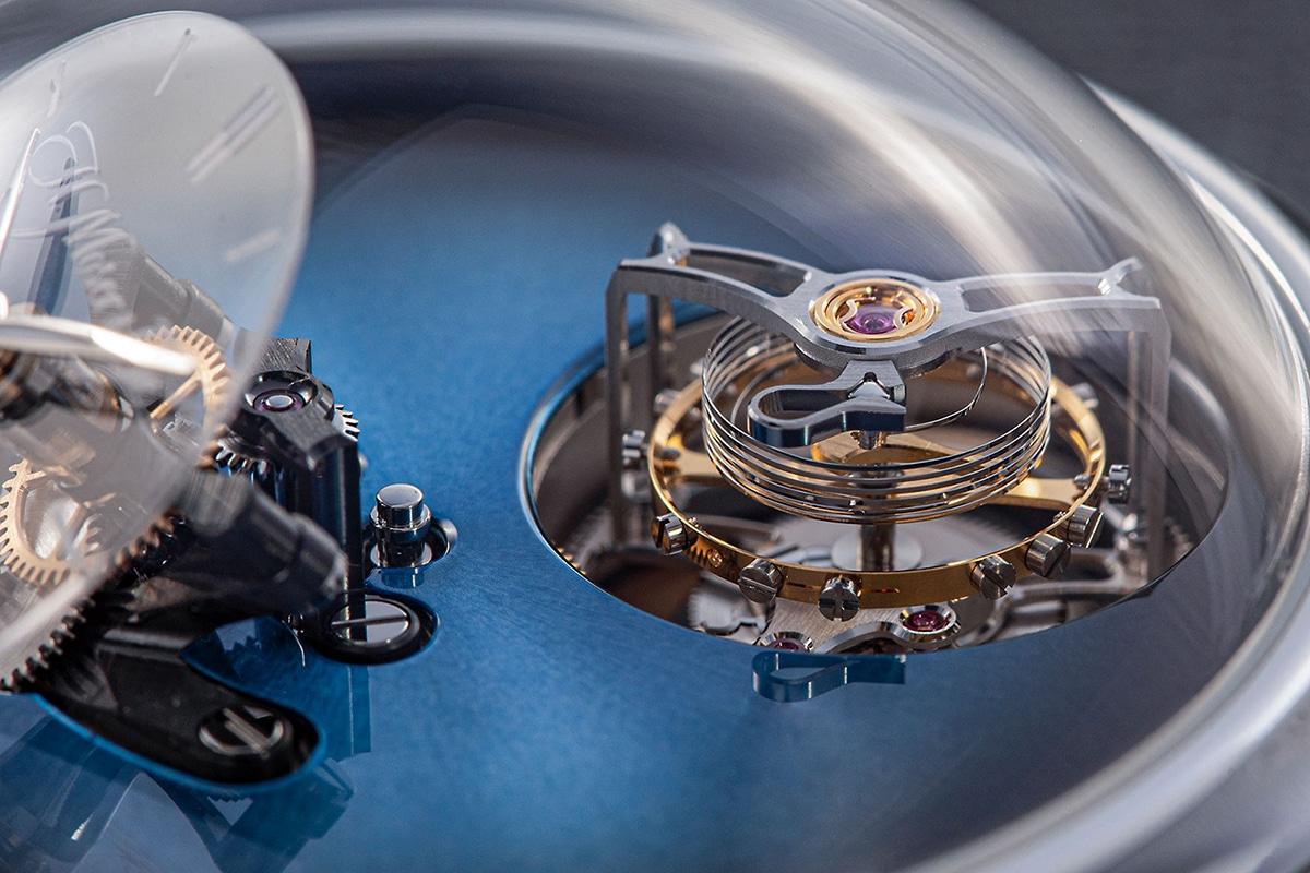 H. Moser & Cie X Endeavour Cylindrical Tourbillon watch mechanism