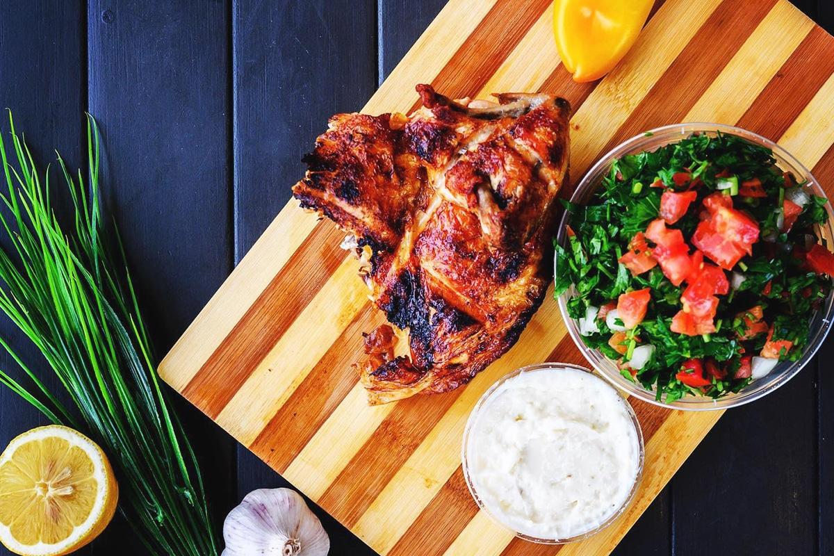 Awafi charcoal chicken shop