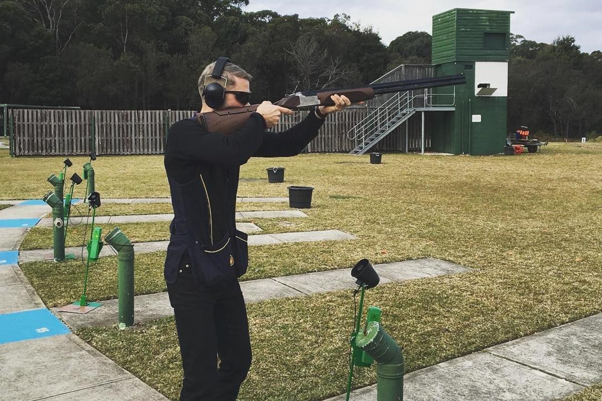 Man aiming shotgun at new south wales gun club
