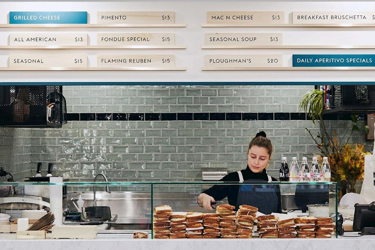 maker and monger Sandwich Shop interior