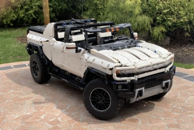 This Life-Sized Lego Supertruck Looks, Drives and 'Crab Walks' Just Like a Real Hummer EV