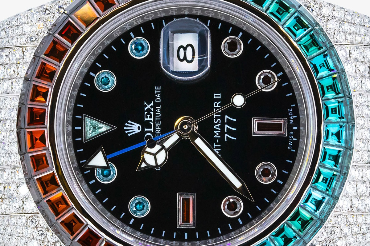 777 customised rolex ice cold pepsi gmt master ii watch 1