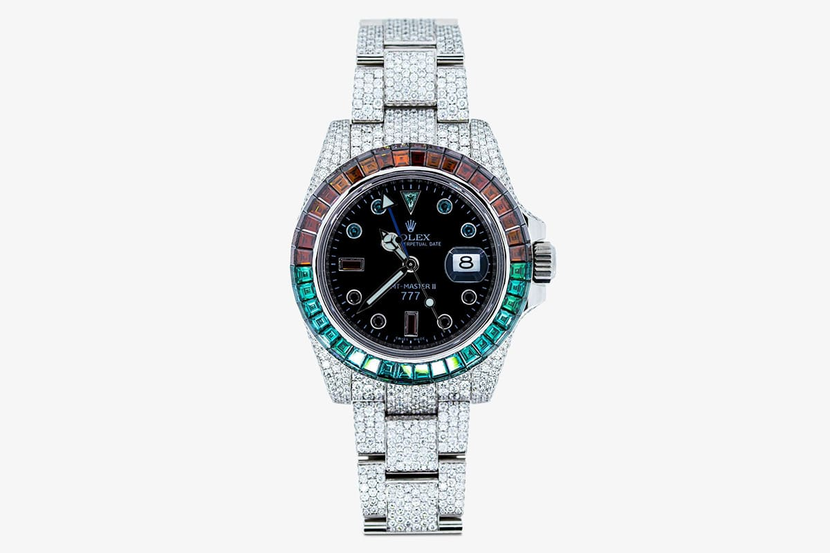 777 customised rolex ice cold pepsi gmt master ii watch