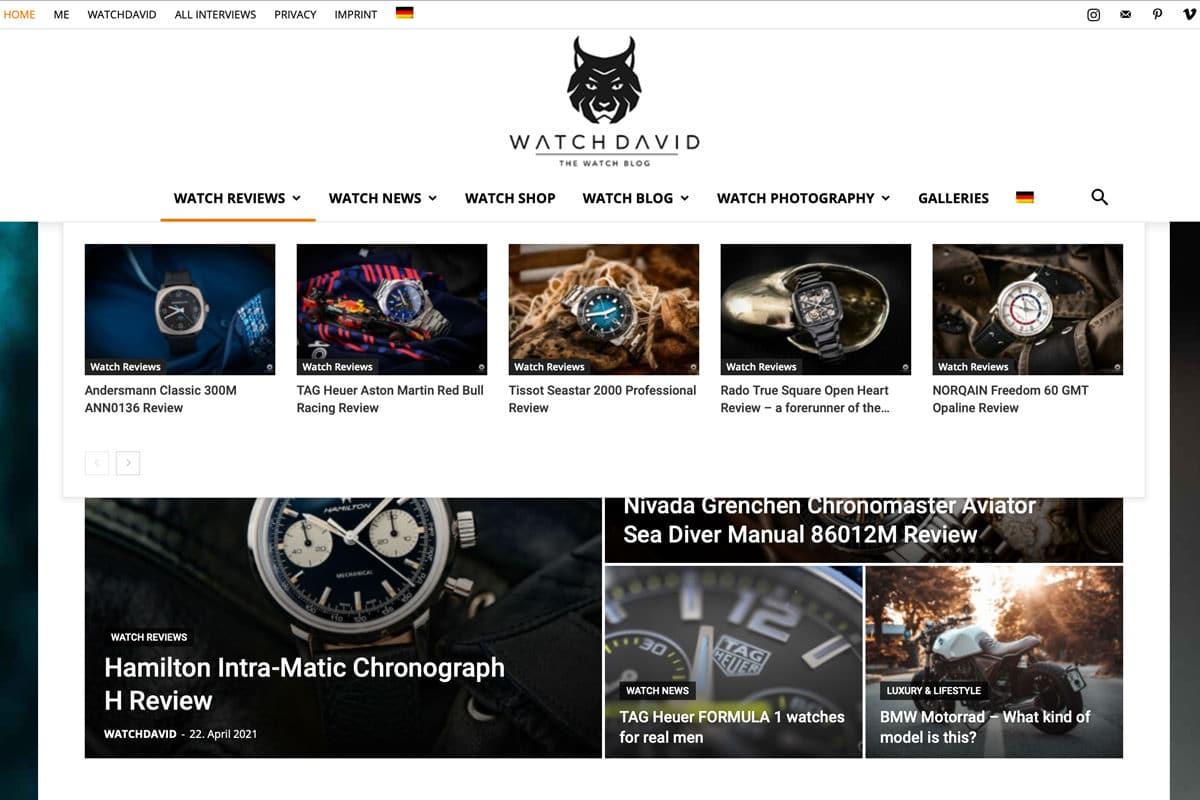 Best watch blogs watchdavid