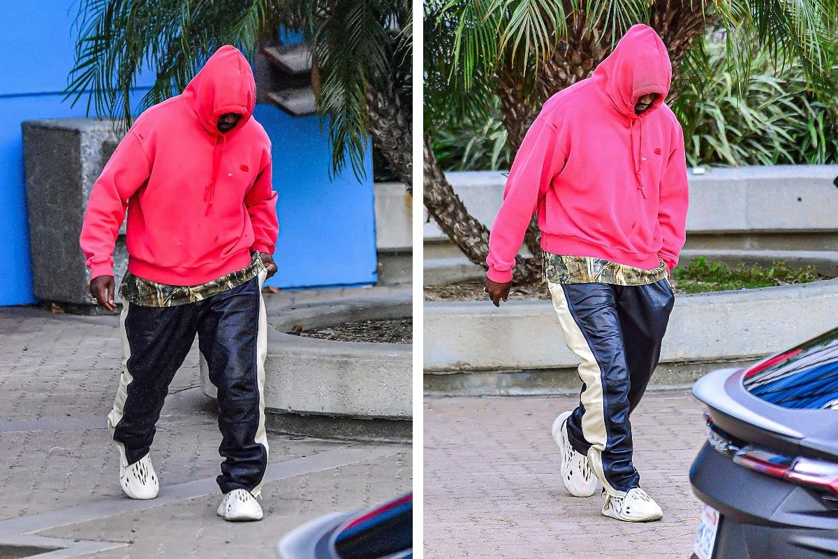 Kanye wearing foam runners 2
