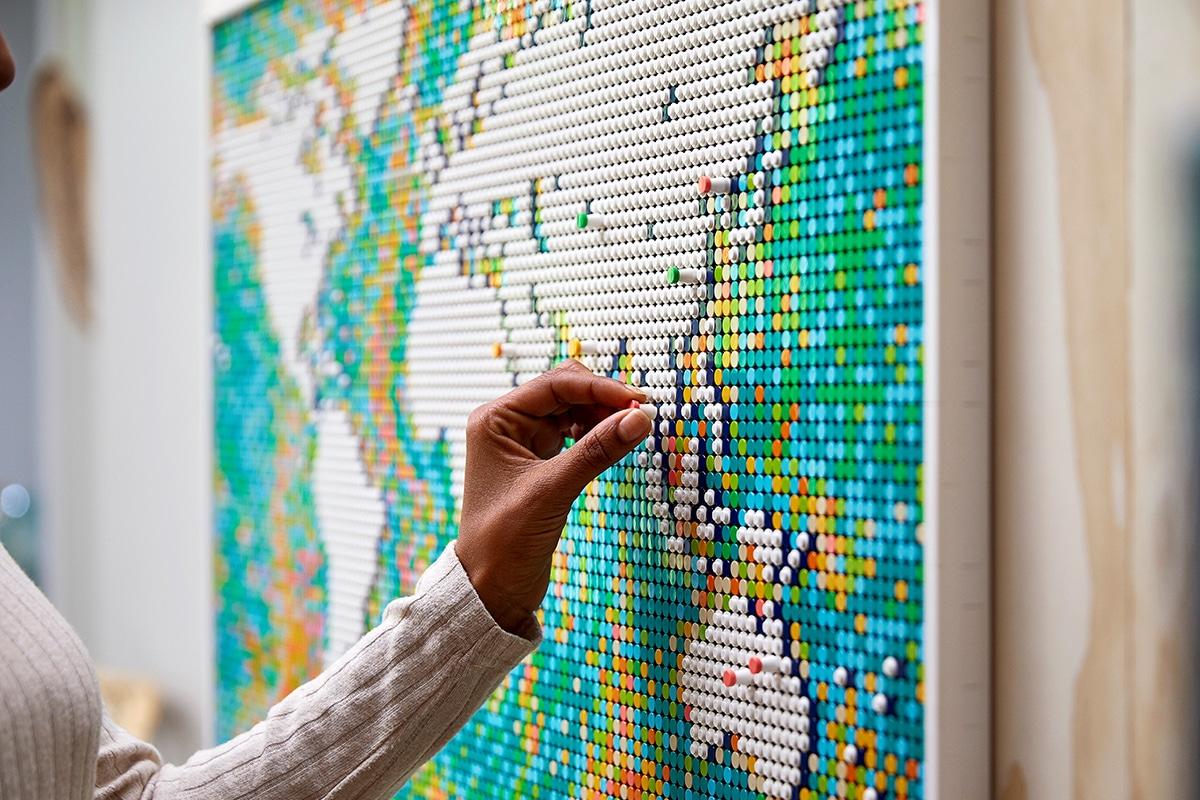 Lego world map 7