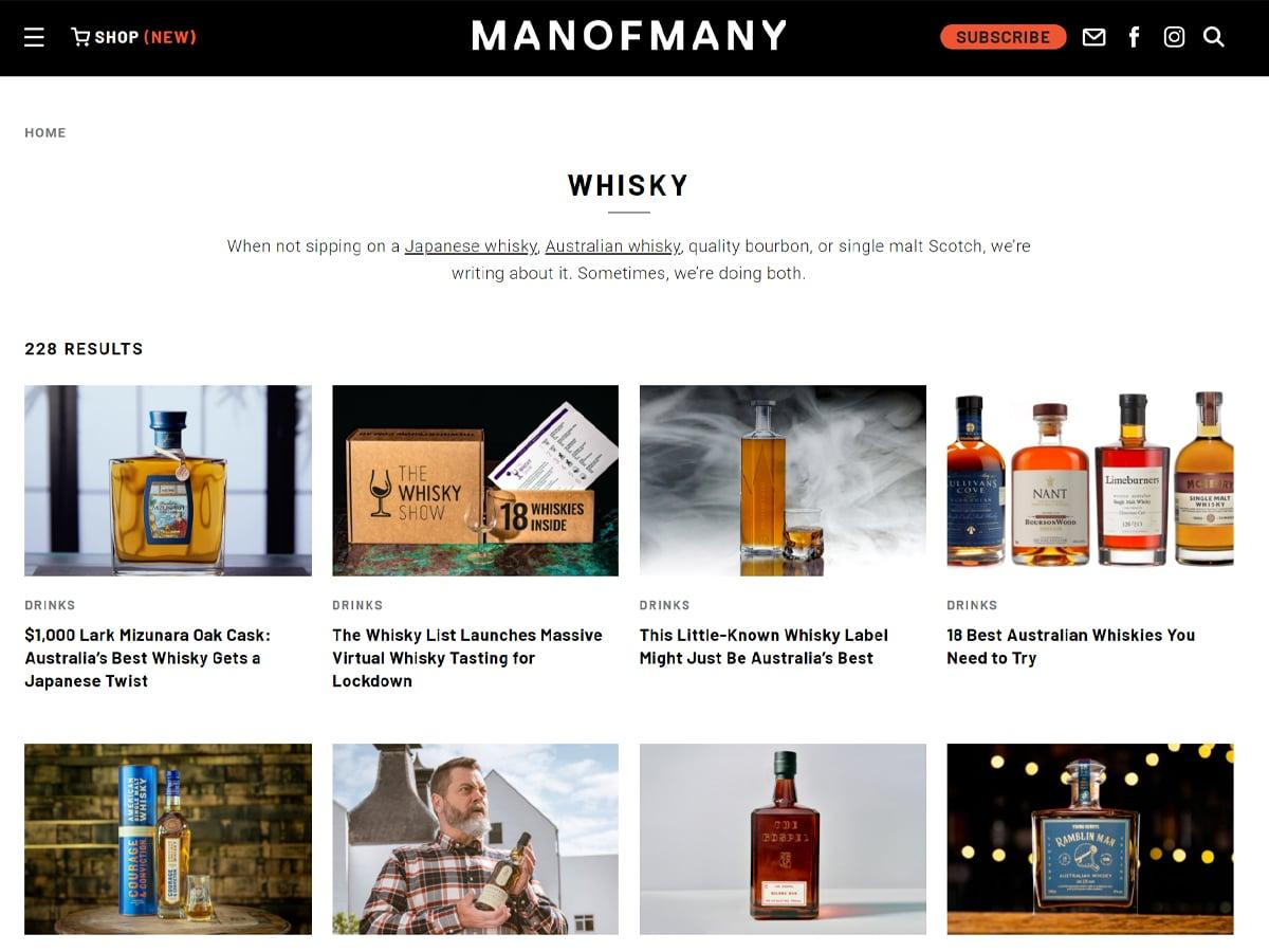 Man of many whisky 1