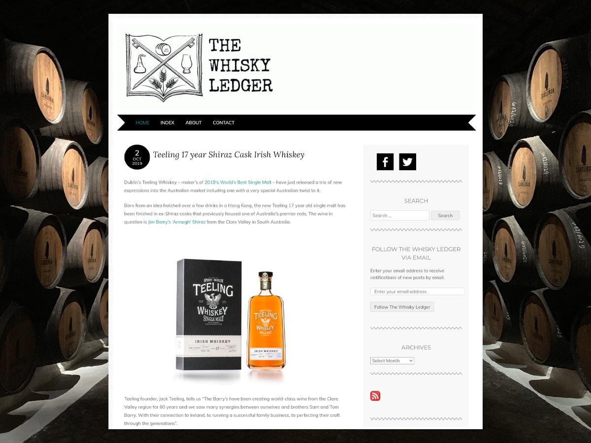 The whisky ledger