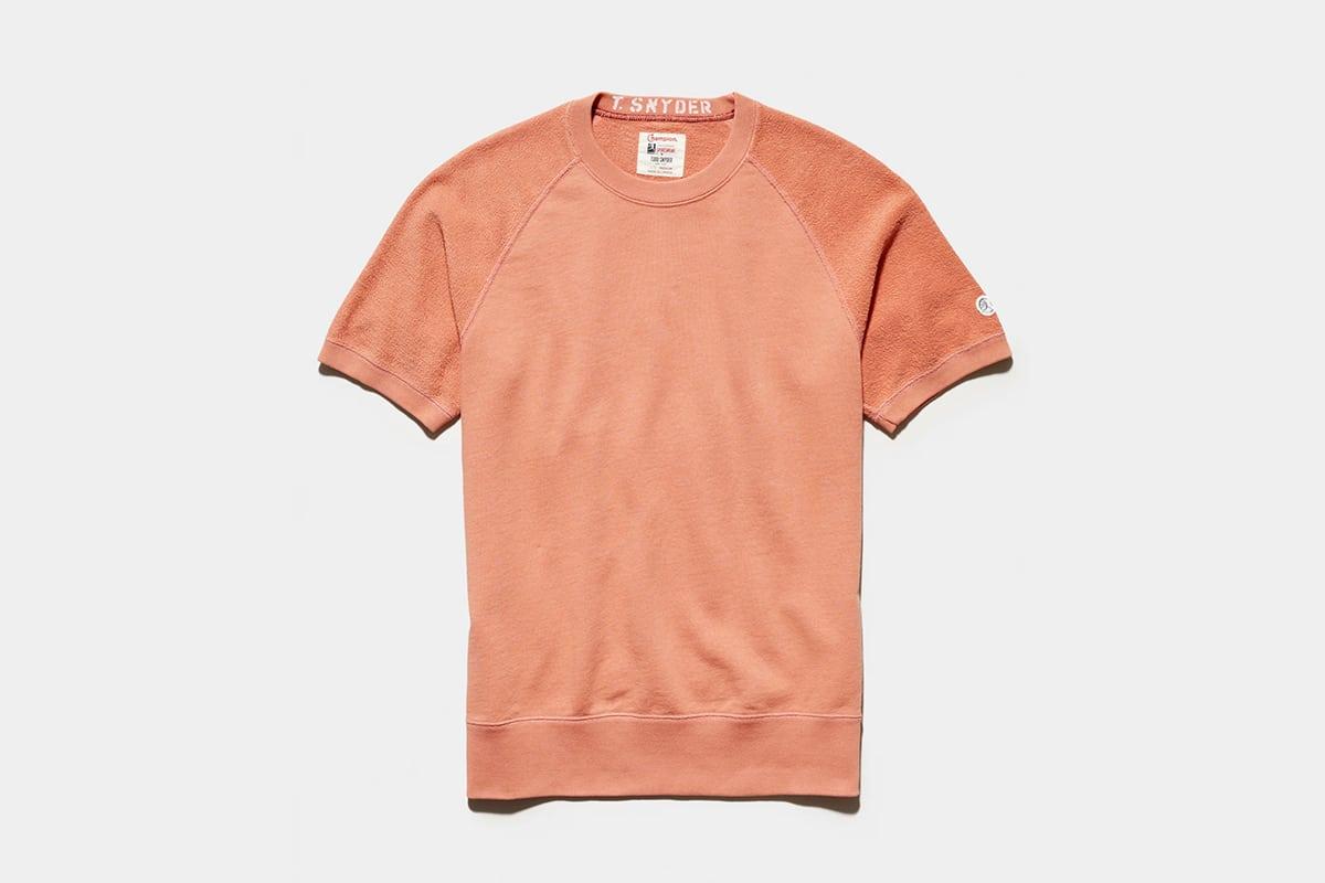 Todd snyder x champion reverse french terry short sleeve sweatshirt