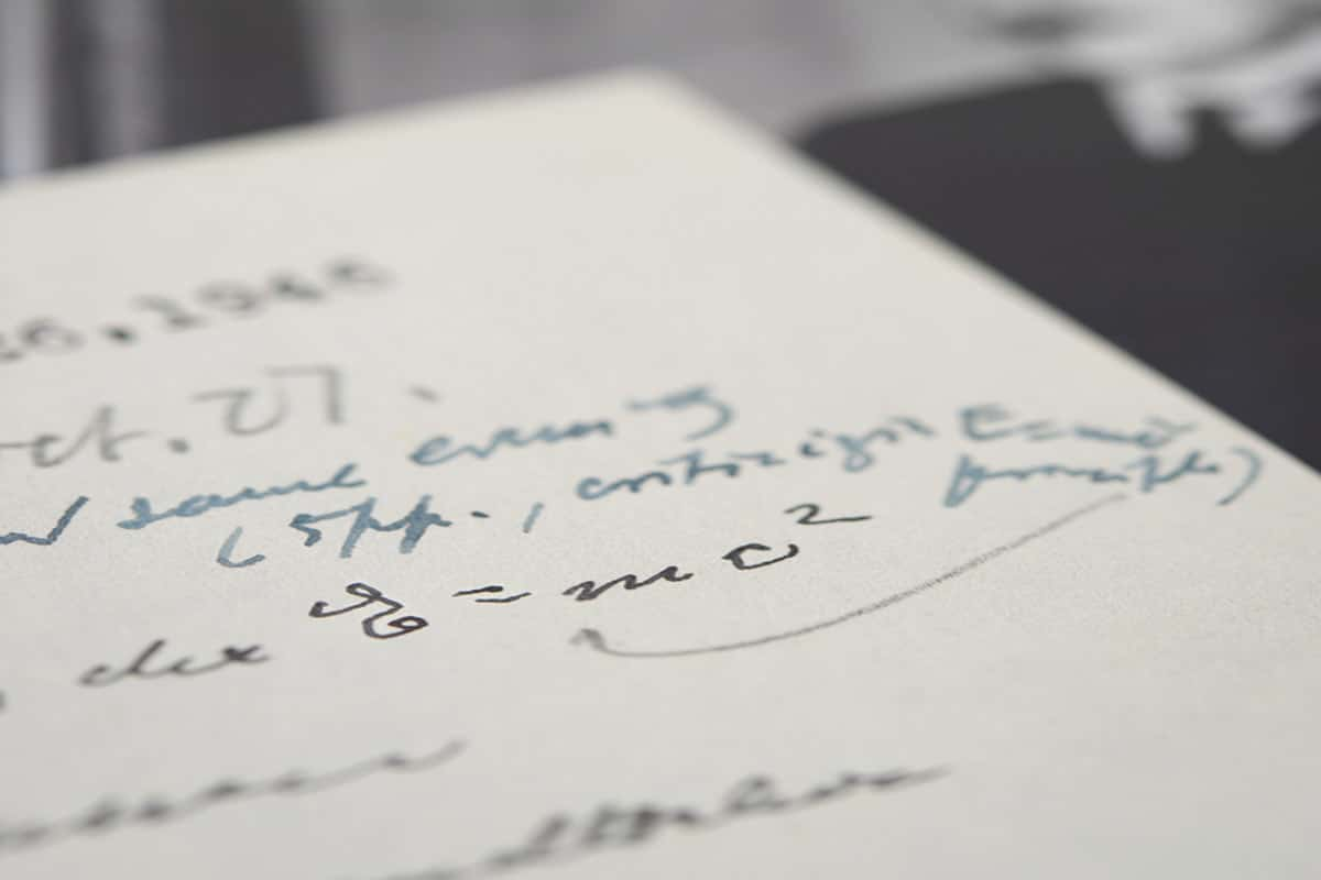 Albert einsteins actual e mc2 equation