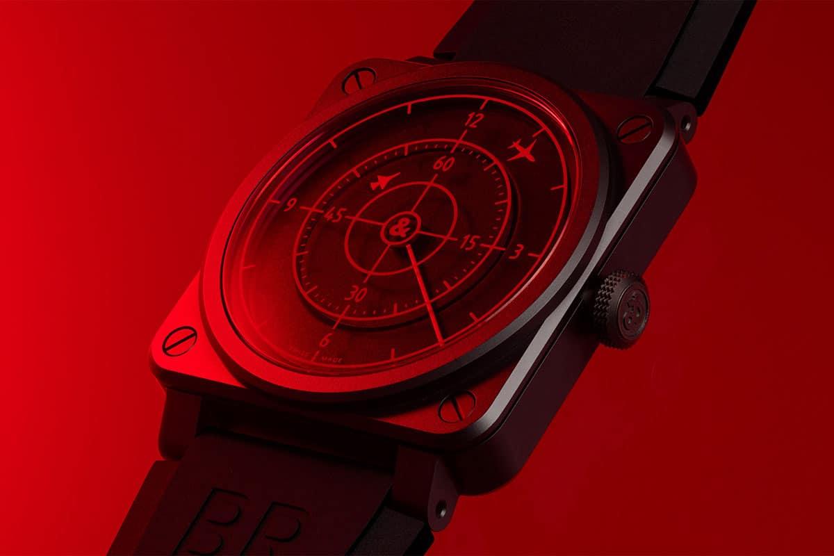 Bell ross br 03 92 red radar 1
