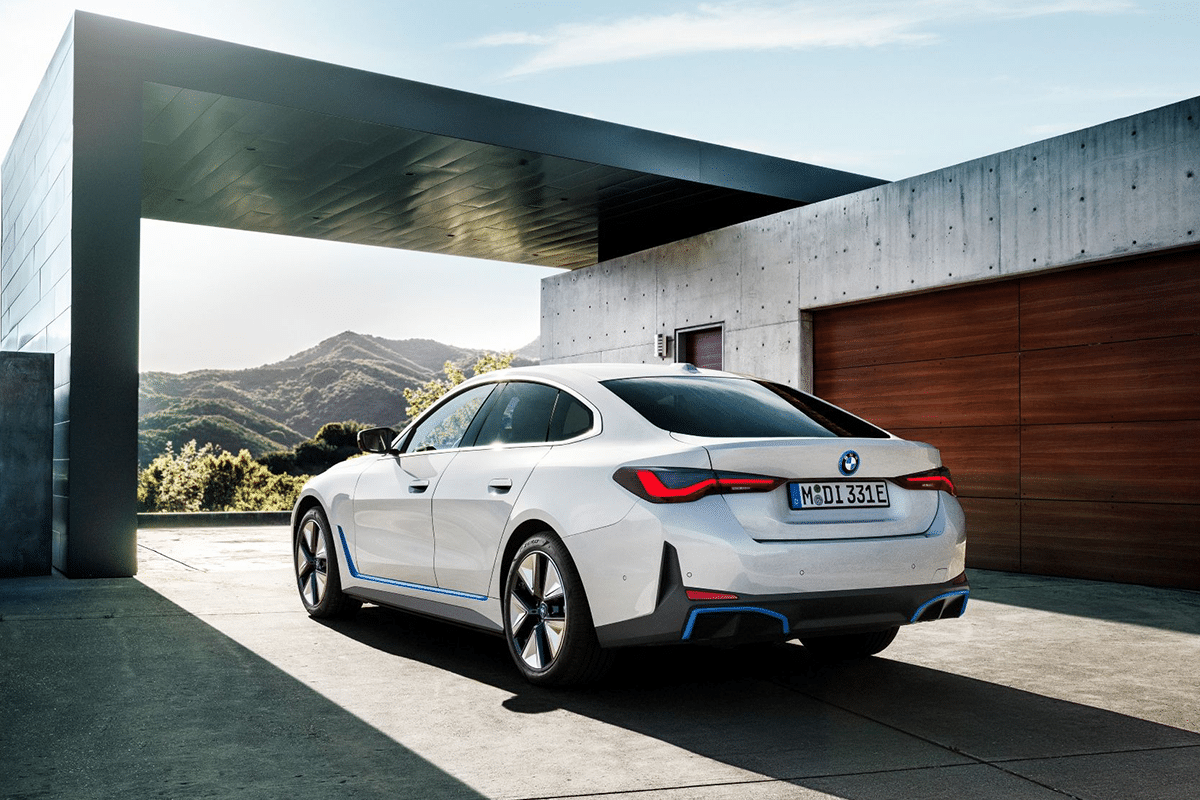 Bmw i4 from rear