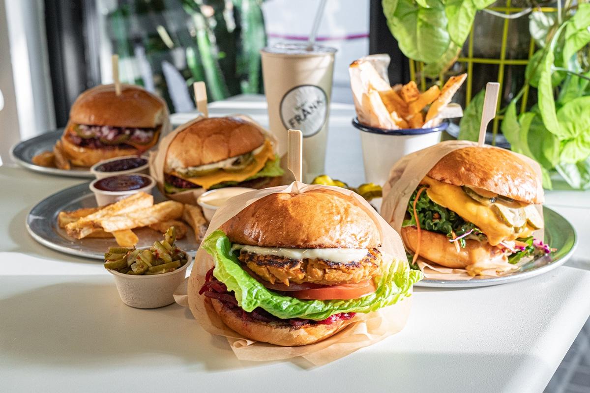 Burger frank camden vegan menu