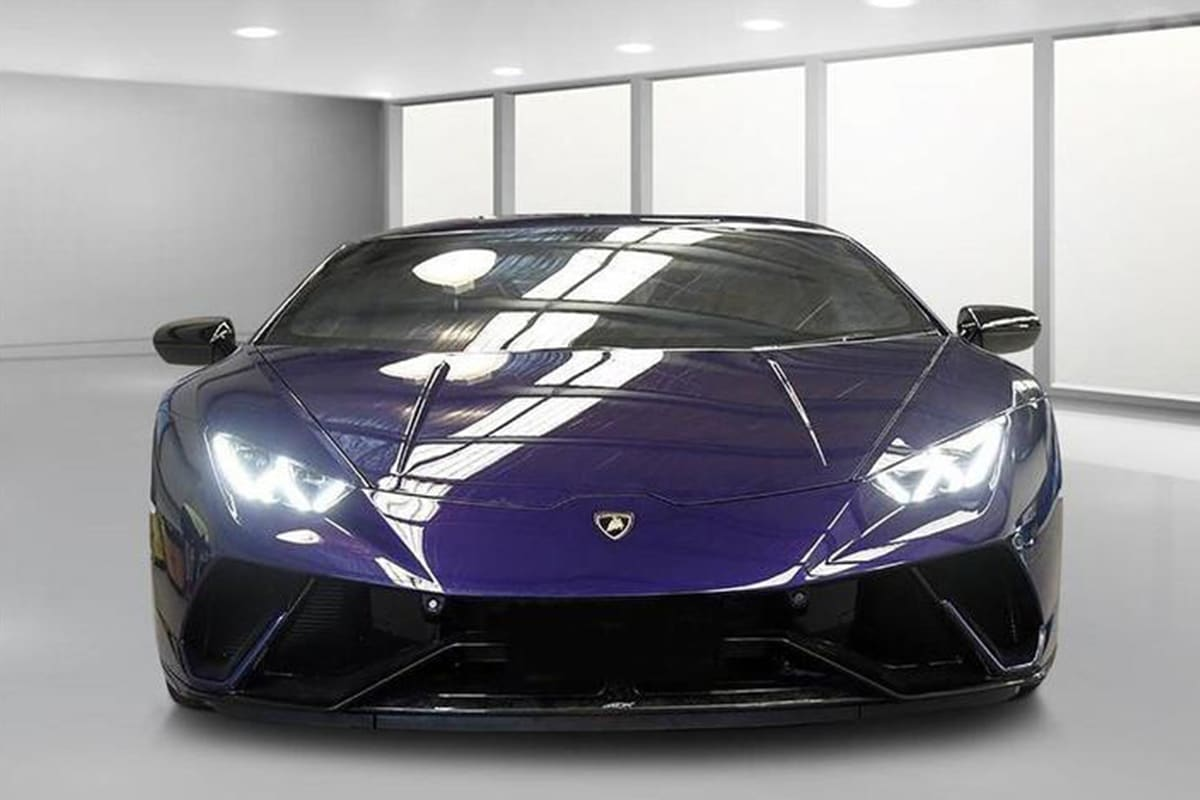 Confiscated lamborghini front on