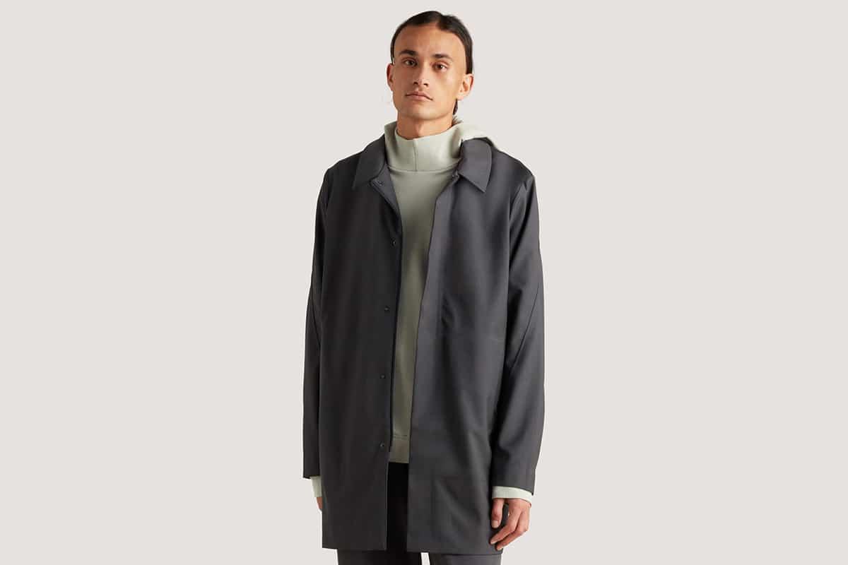 icebreaker city label cool lite merino travel trench coat