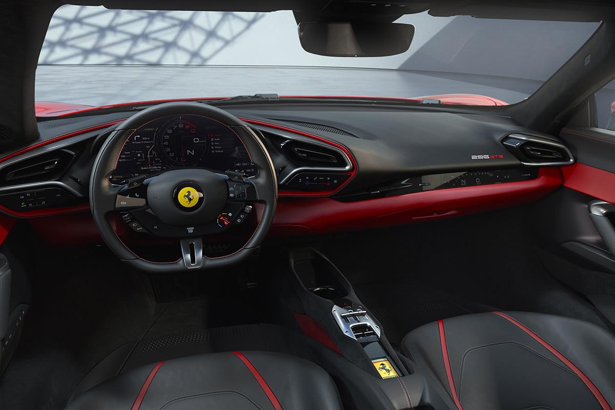 Ferrari 296 gtb interior 2