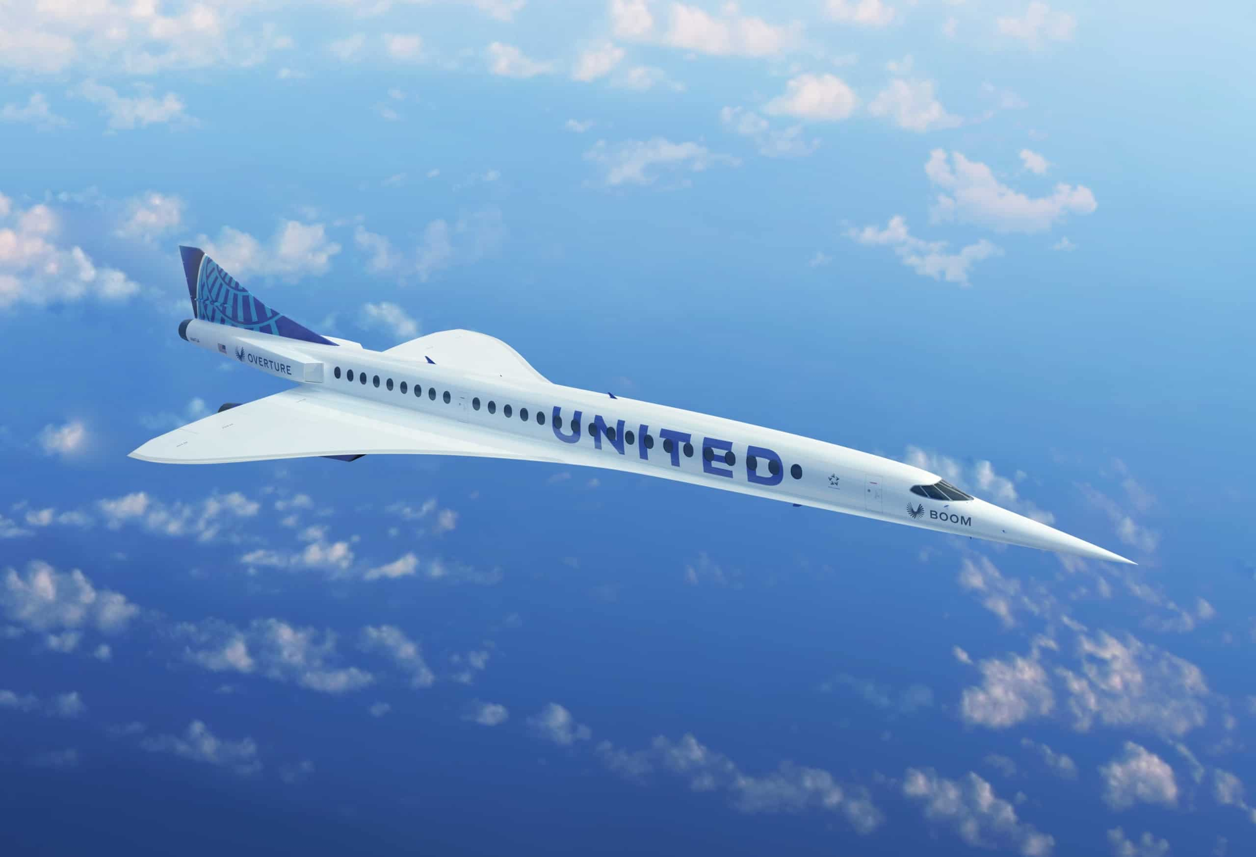 United Arlines Supersonic Plane