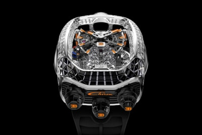 $560,000 Jacob & Co. Bugatti Tourbillon Features a Replica Chrion Engine