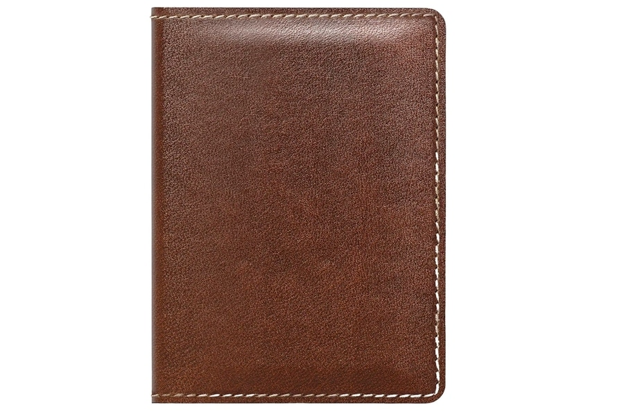 nomad slim wallet with tile tracking rustic brown