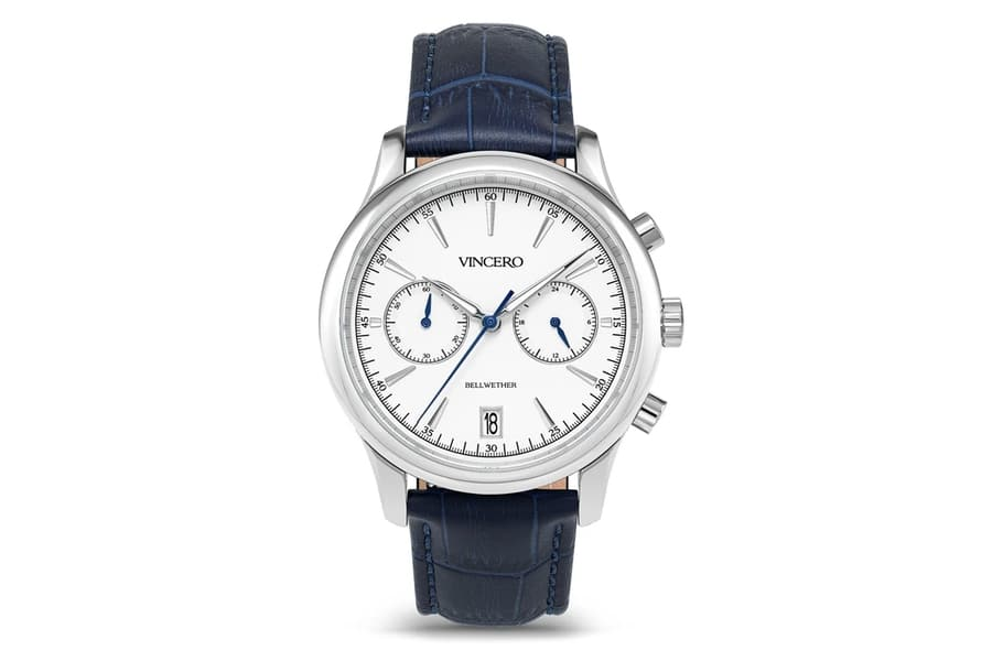 vincero watches the bellwether bluesilver