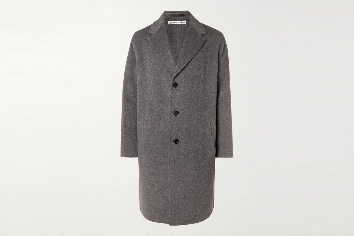 Mr porter finds acne studios dali double faced wool coat