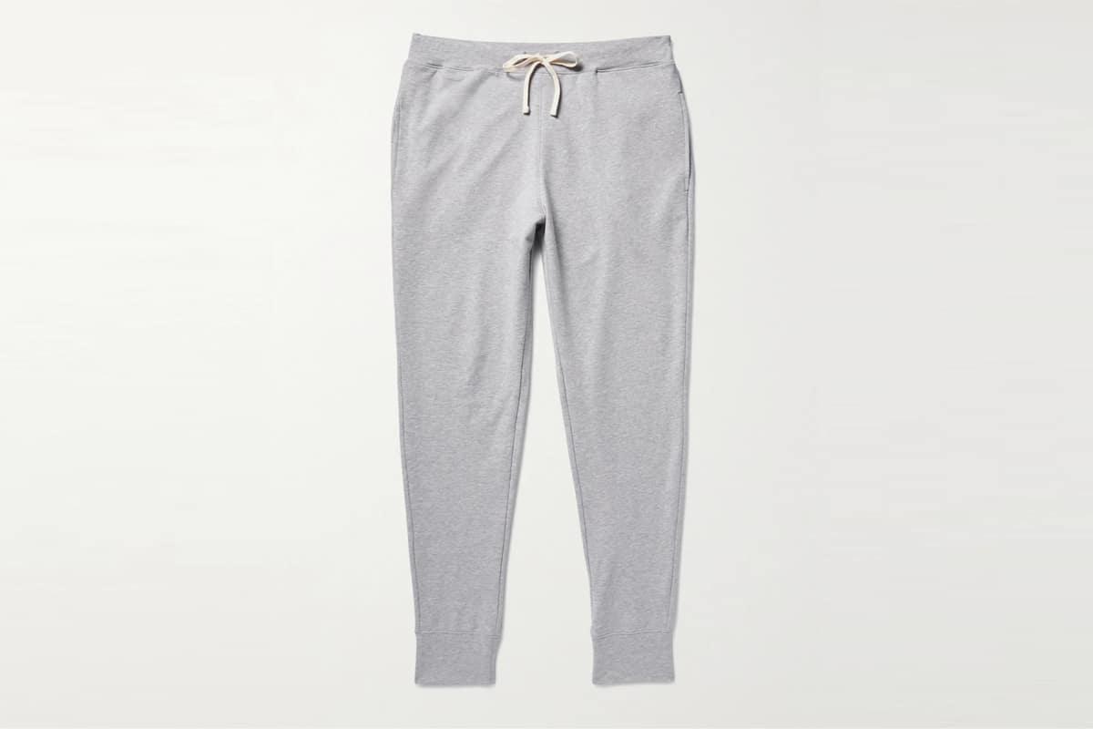 Mr porter finds handvaerk flex tapered loopback pima cotton jersey sweatpants