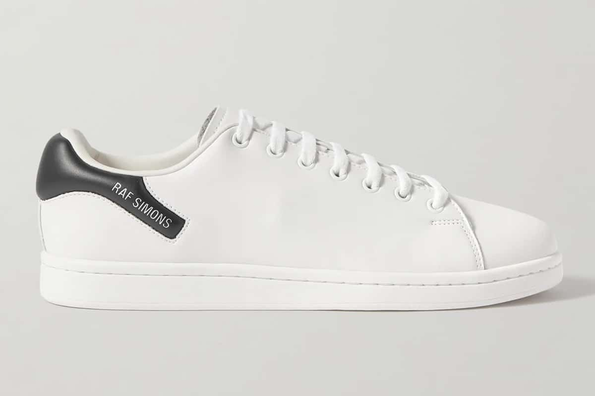 Mr porter finds raf simons orion logo print faux leather sneakers