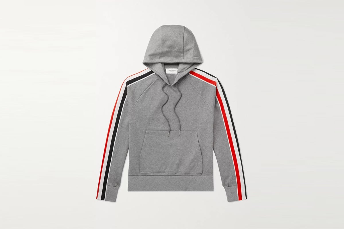 Mr porter finds thom brown striped cotton jersey hoodie