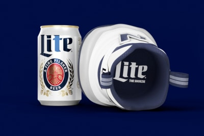 """New Balance & Miller Team Up for the """"Shoezie"""" Dad-Wear for Your Beer"""