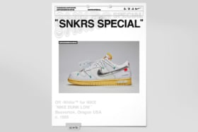 Nike x off white dunk low feature image