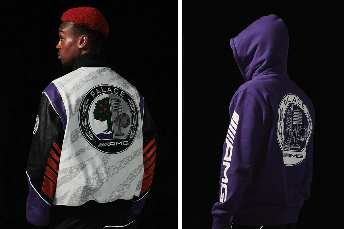 Palace x mercedes amg outfit 2