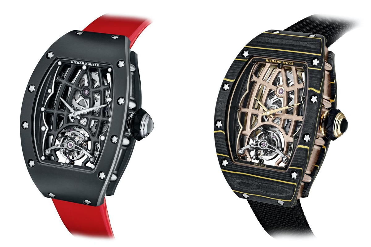 Richard mille unveils two new in house tourbillons