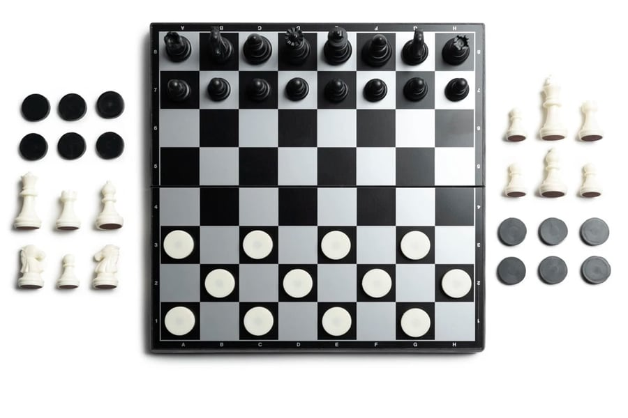 basecamp magnetic chess checkers