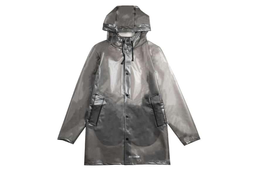 stutterheim stockholm smoke rain jacket