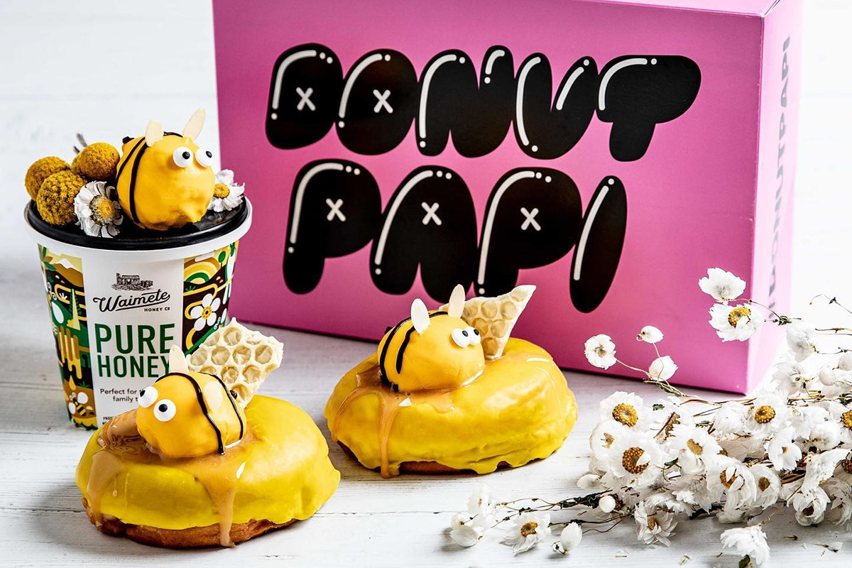 yellow donut papi doughnuts with honey