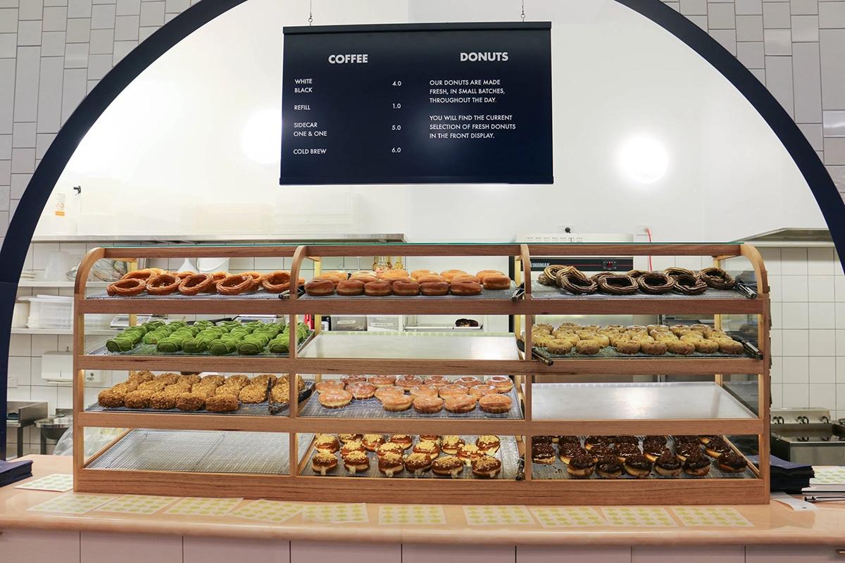 shortstop coffee donuts showcase