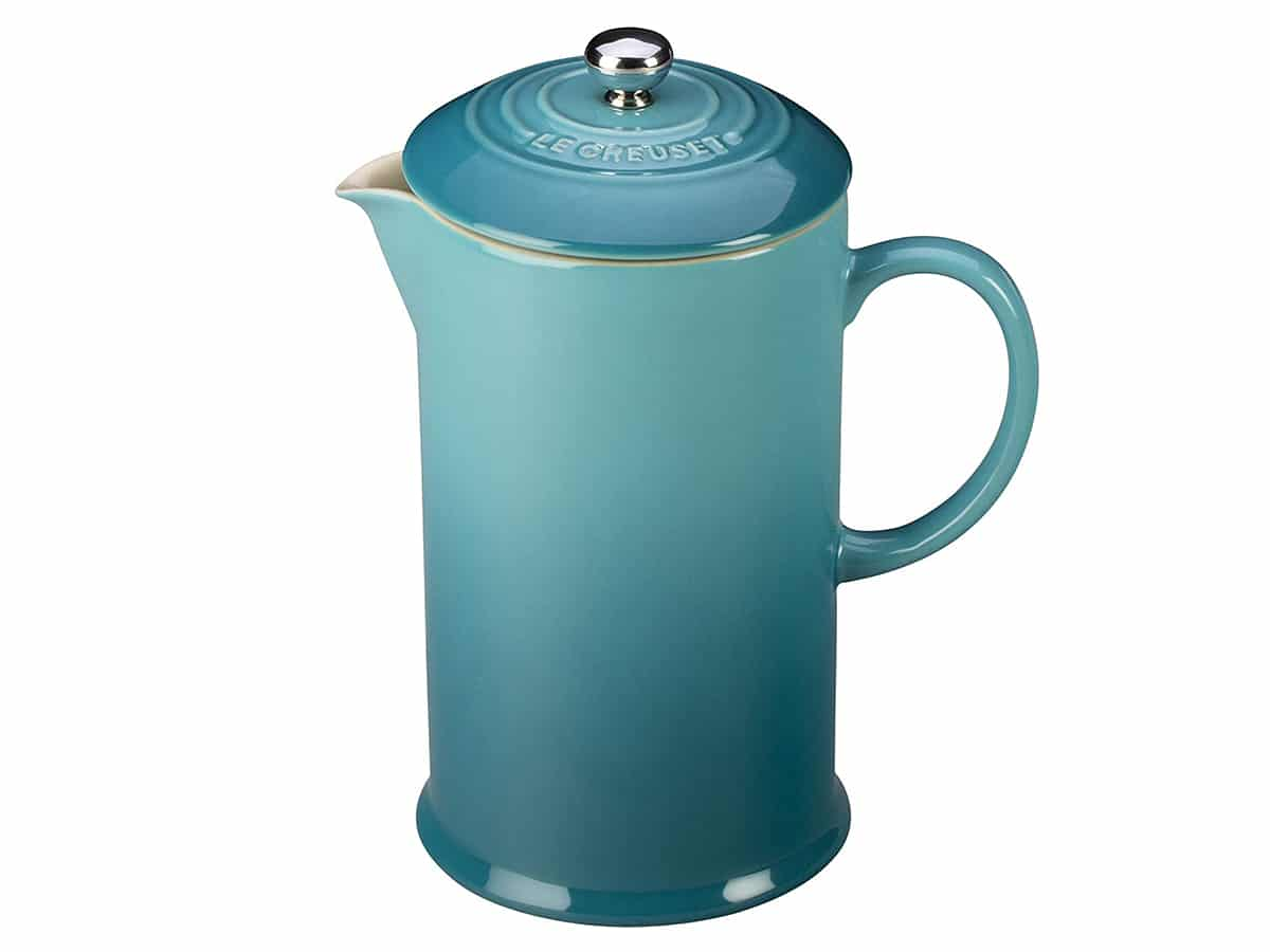 french press coffee maker le creuset stoneware french press