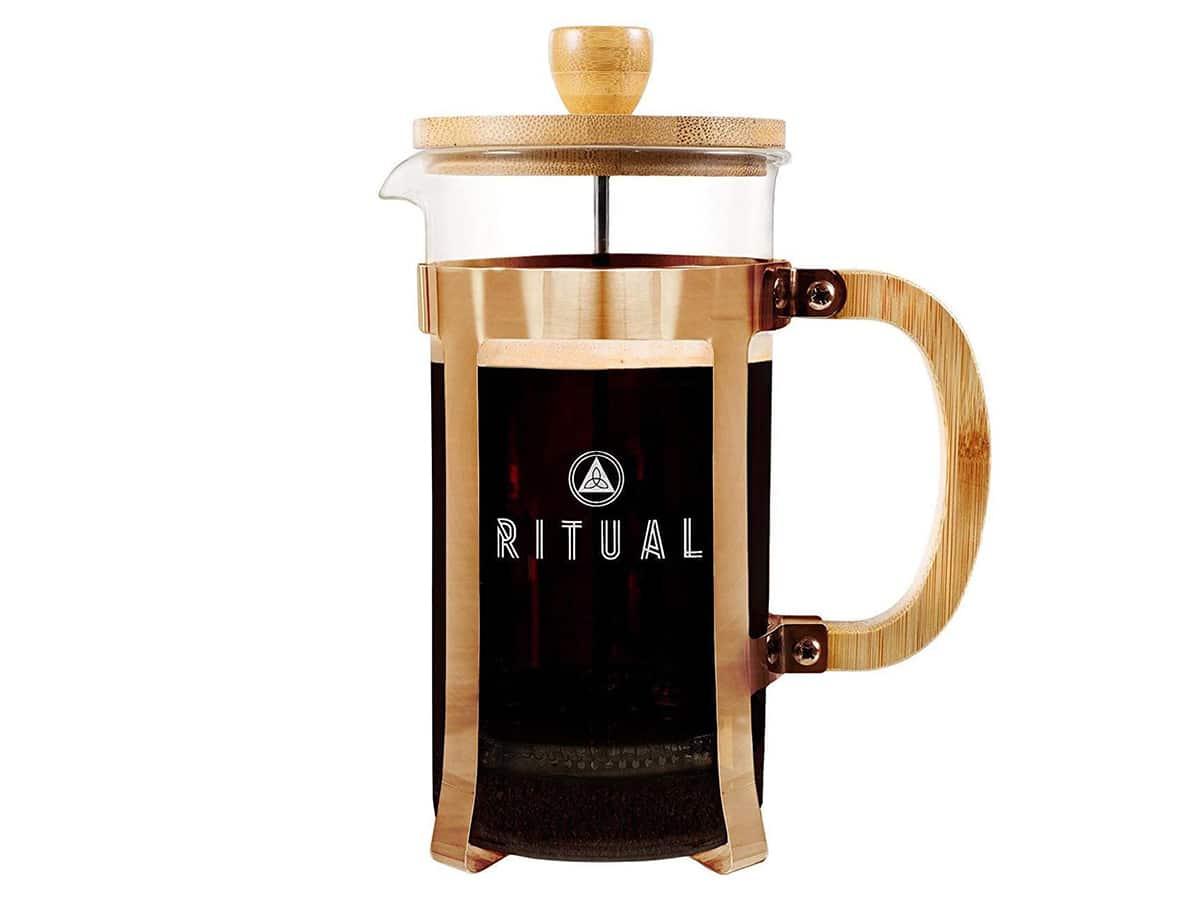 french press coffee maker ritual bamboo french coffee press