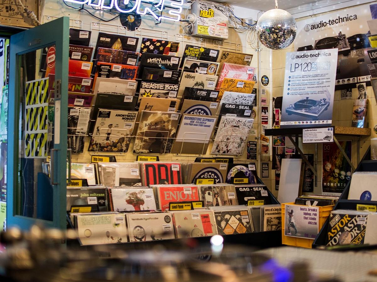 the record store interior