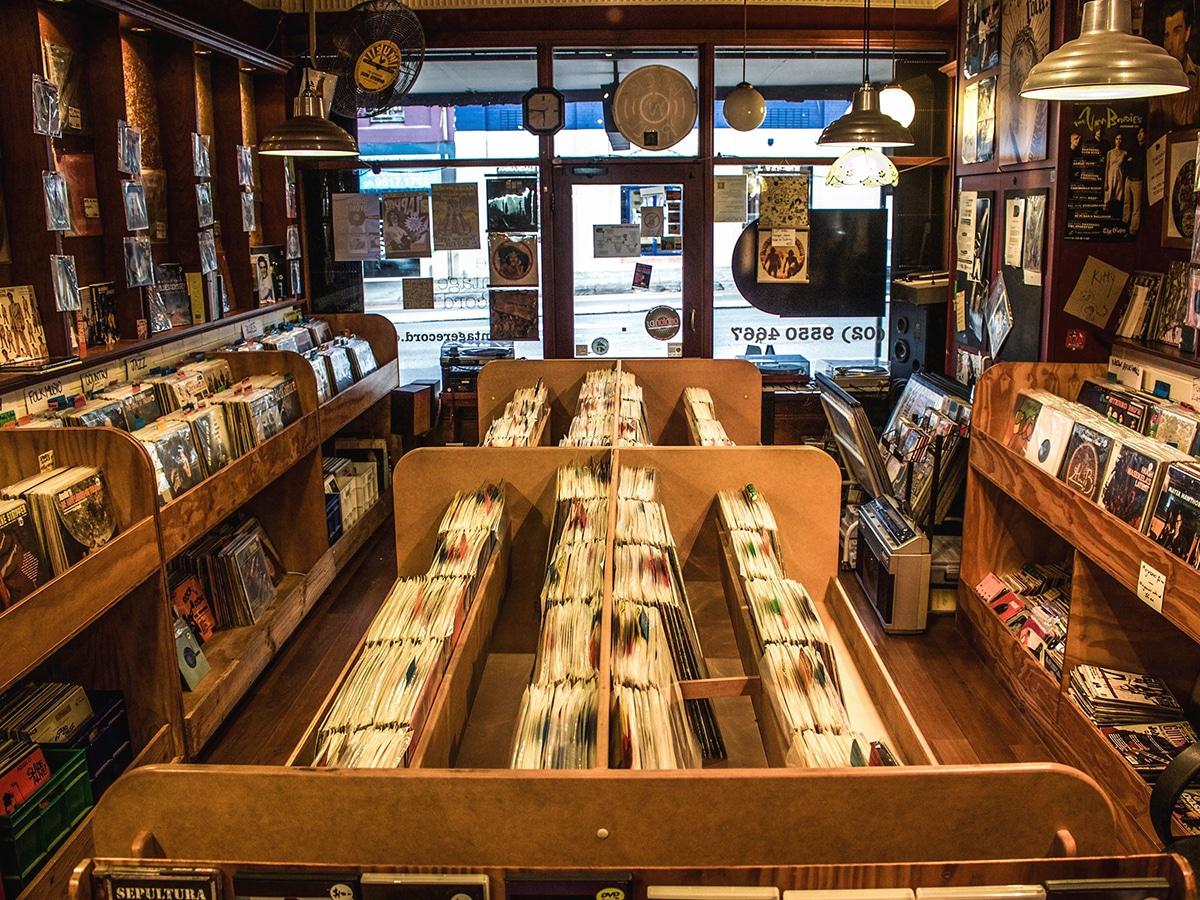 the vintage record interior