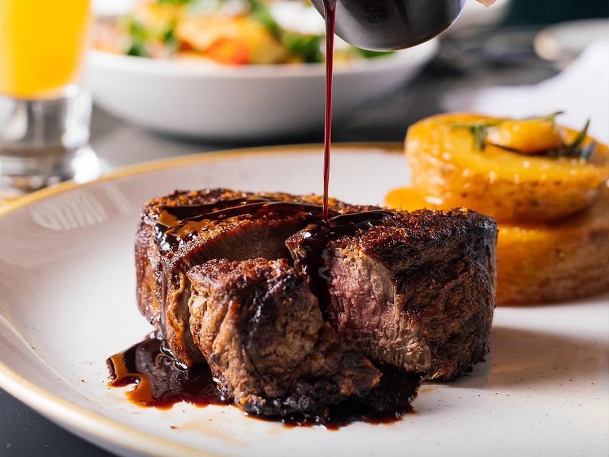 steak in black hide steakhouse