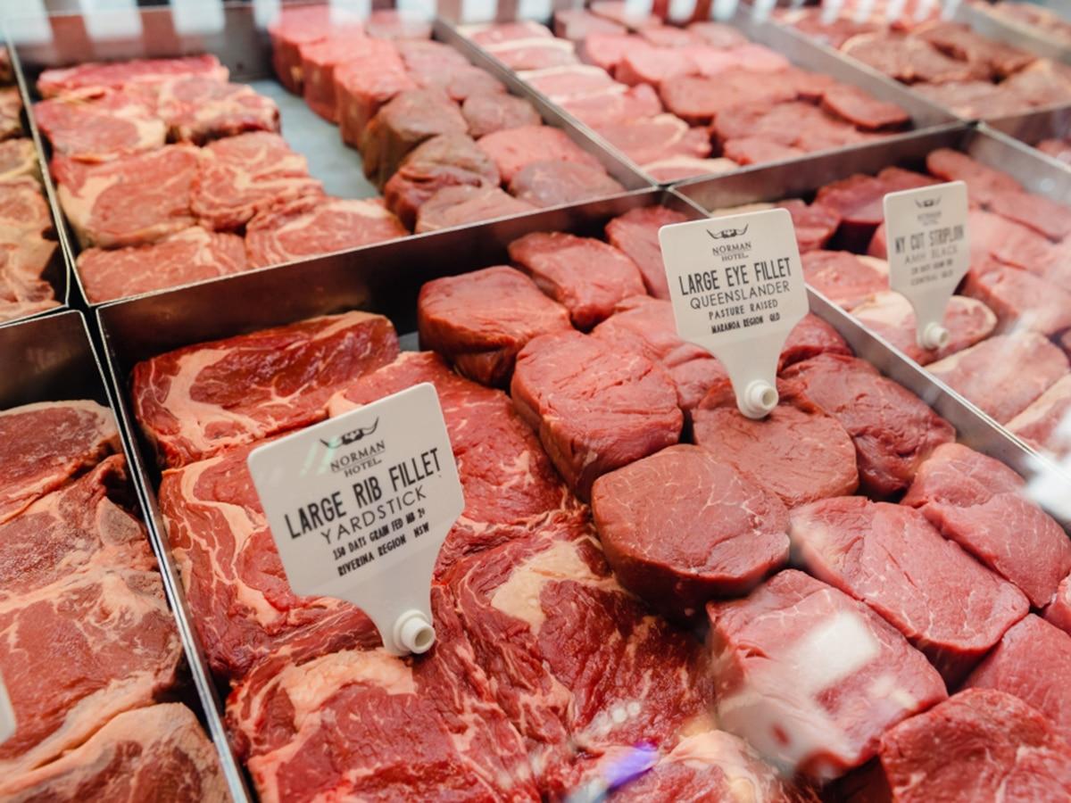 norman hotel raw steaks