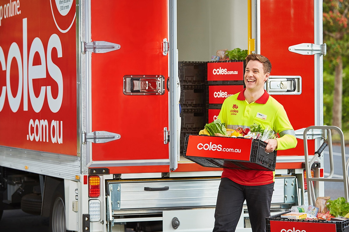 grocery delivery service coles online