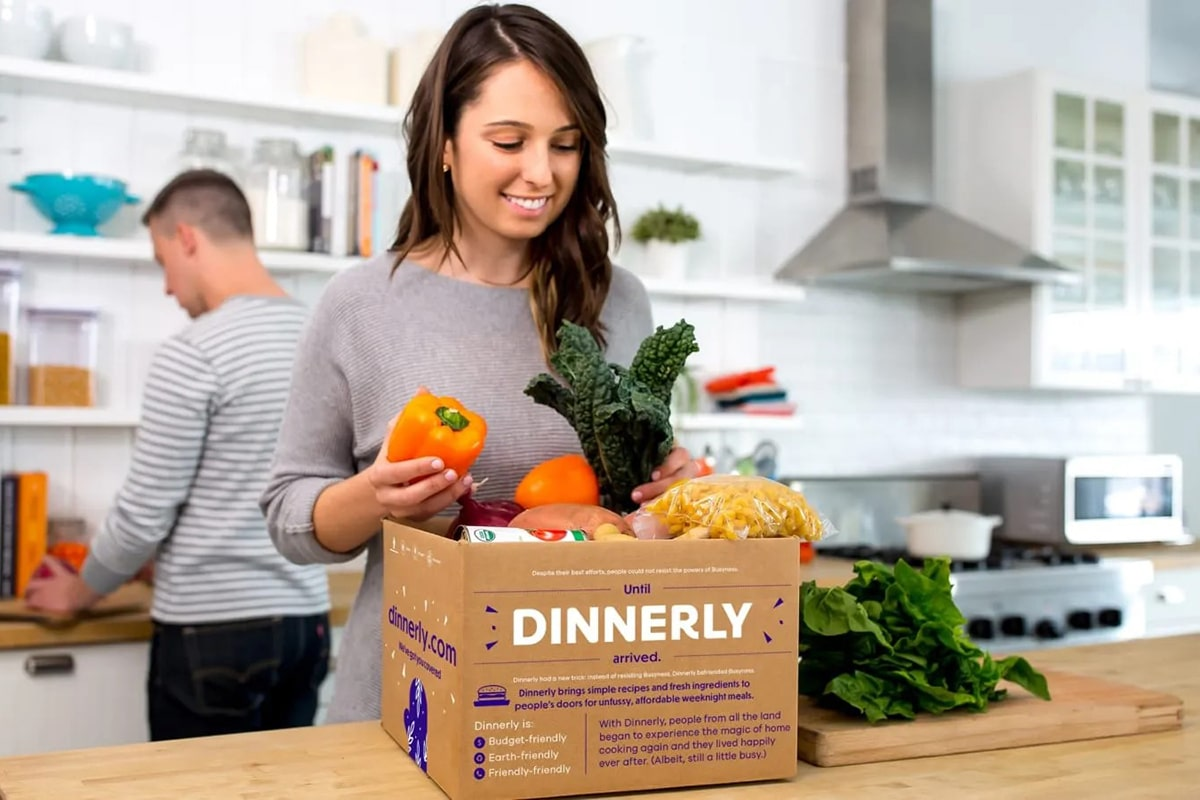 Dinnerly online grocery delivery service package