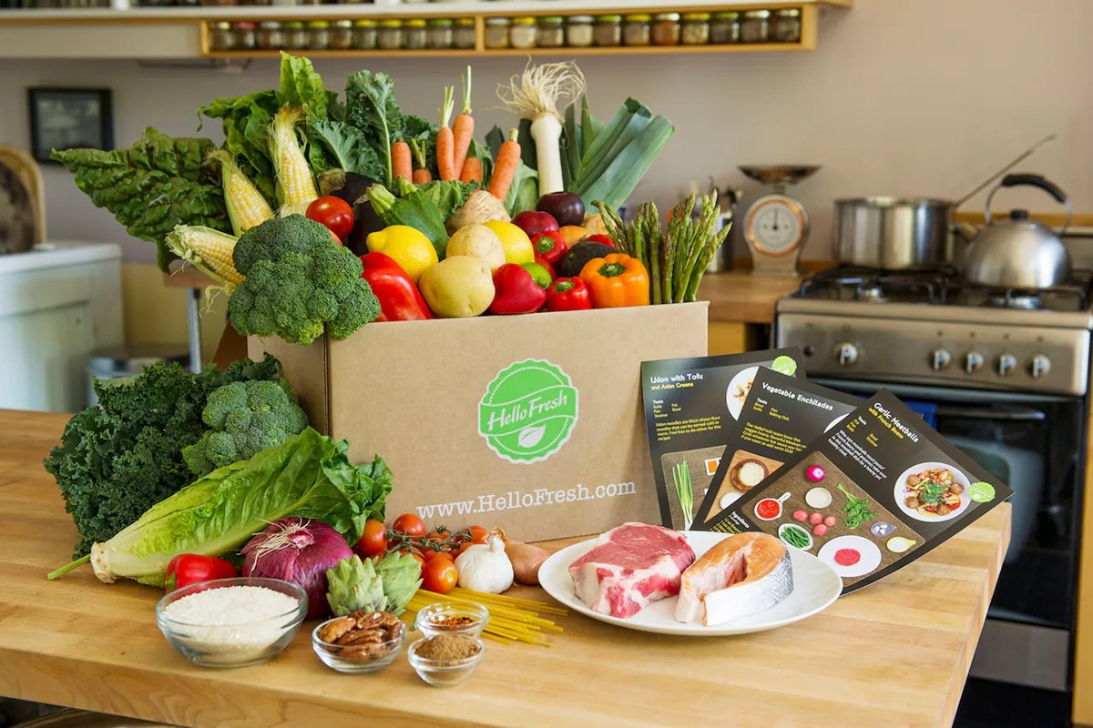 hellofresh online grocery delivery package