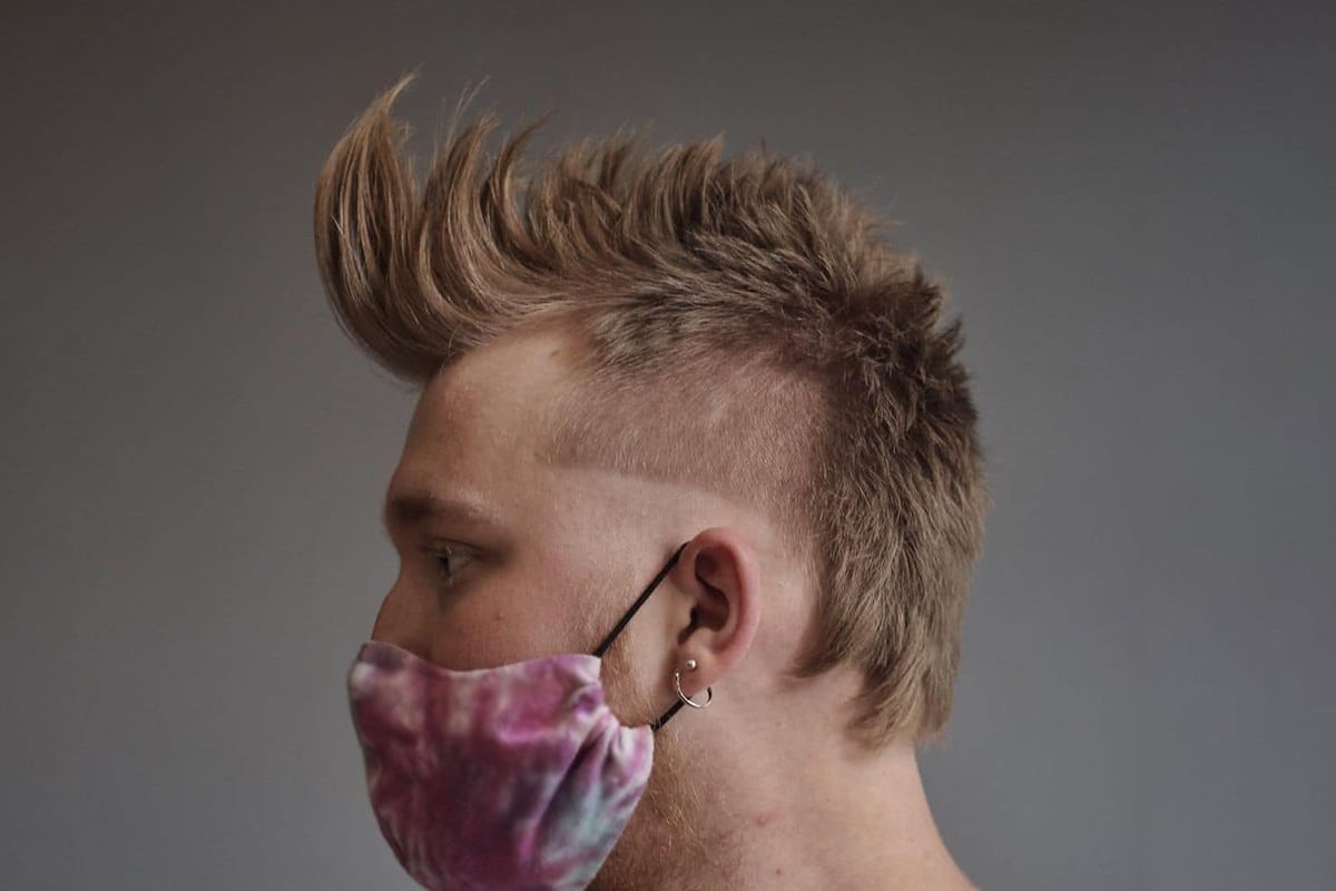 faux hawk mullet hairstyle for men