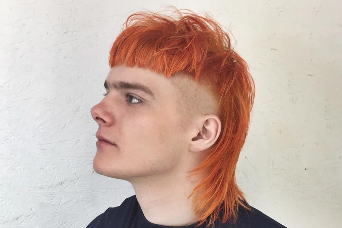 mullet with bangs hairstyle for men