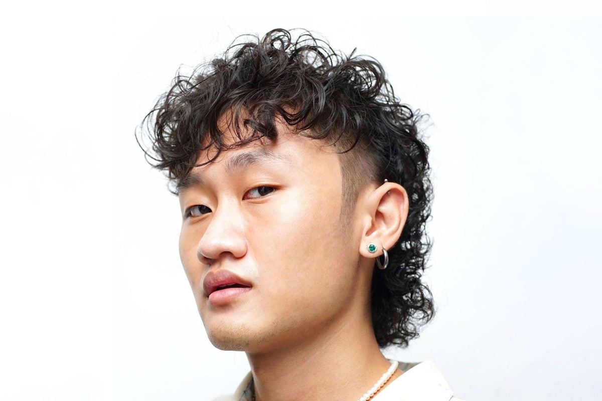 perm mullet hairstyle for men