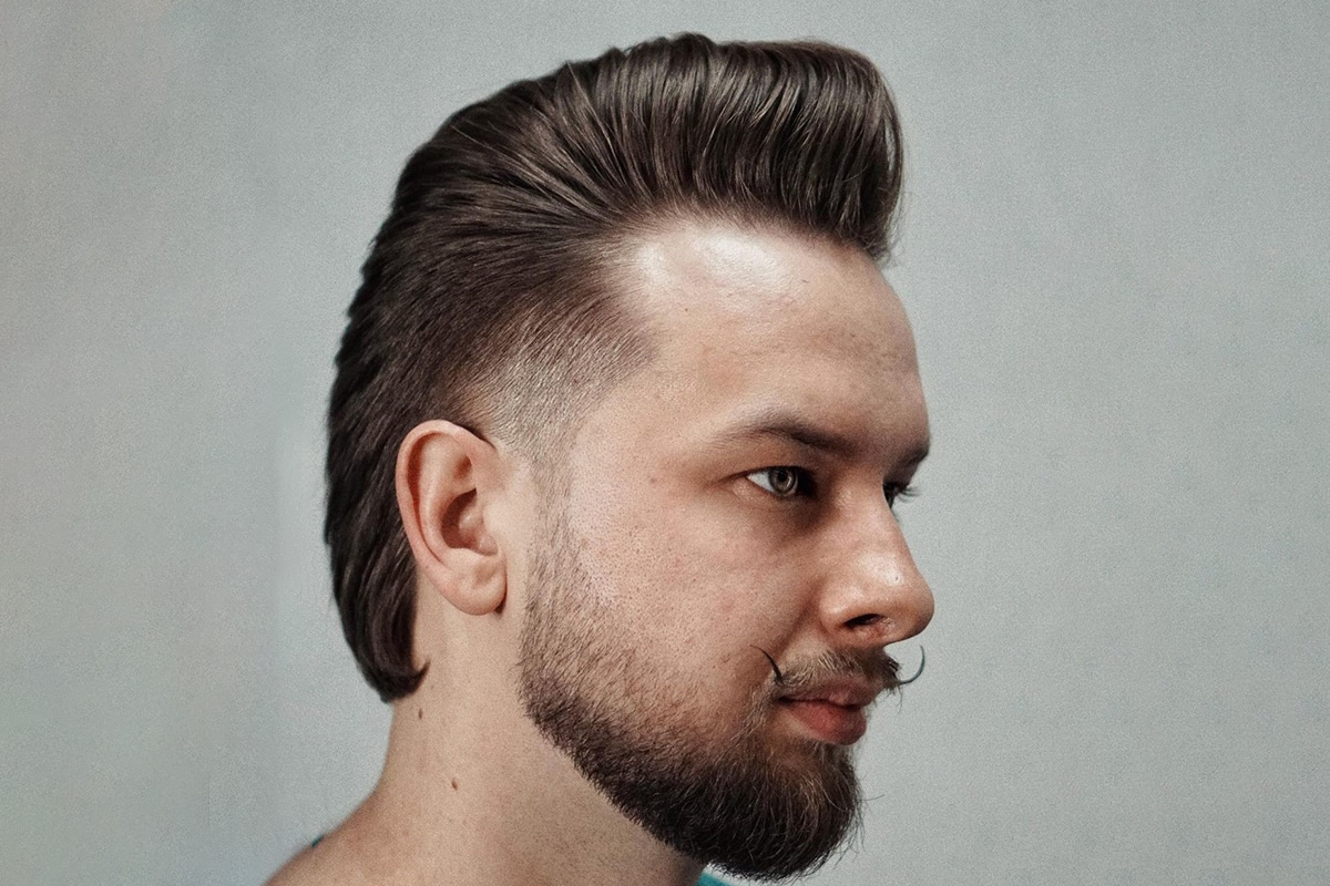 pompadour mullet hairstyle for men