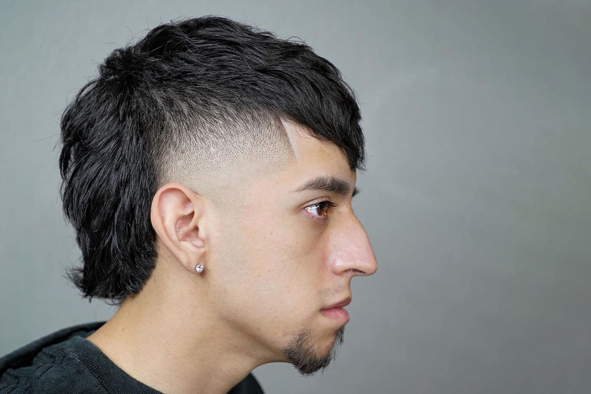 shaved sides mullet hairstyle for men